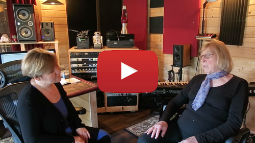 Watch the video of Recording the backing vocals of Dee Palmer's new Album