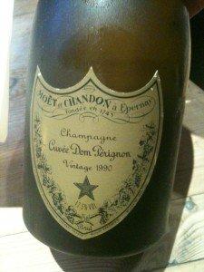 Dee Palmer's Vintage Bottle of Dom Perignon